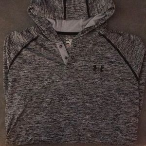 Under Armour Men's Gray Button Up Hooded Shirt - L